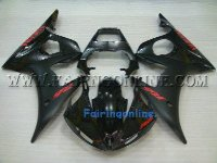Black Type 2 ABS Fairing Set 10pc - Yamaha R6 2003-2005