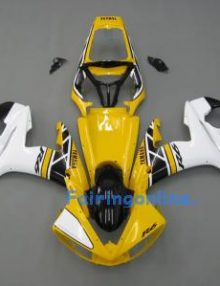 Yellow/White ABS Fairing Set 10pc - Yamaha R6 2003-2005