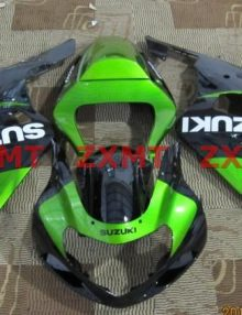 ZXMT Black/Green ABS Fairing Set 9pc - Suzuki GSXR 600/750 2000-2003