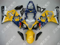 ZXMT Yellow/Blue Corona ABS Fairing Set 10pc - Suzuki GSXR 600/750 2004-2005