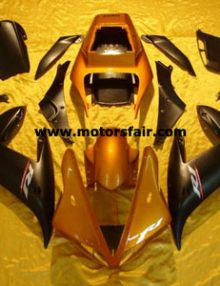 Yamaha R1 2002-2003 ABS Fairing - Black/Orange