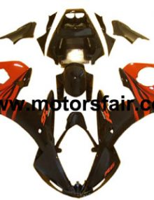 Yamaha R6 2003-2005 ABS Fairing - Black/Orange