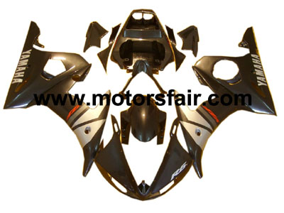 Yamaha R6 2003-2005 ABS Fairing - Black/Silver