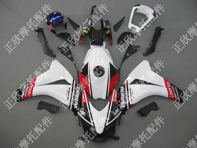 ZXMT White/Black/Red ABS Fairing Set 19pc - Honda CBR 1000RR 2008-2009