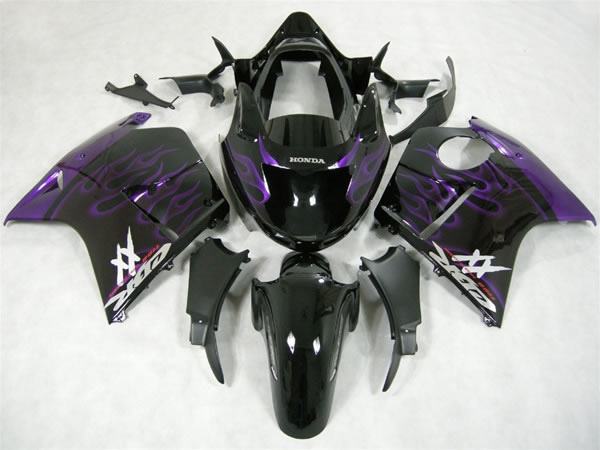 ZXMT Black/Purple ABS Fairing Set 12pc - Honda CBR 1100XX Blackbird 1996-2007