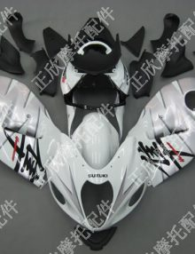 ZXMT Silver/Black ABS Fairing Set 18pc - Suzuki GSXR1300 1997-2007