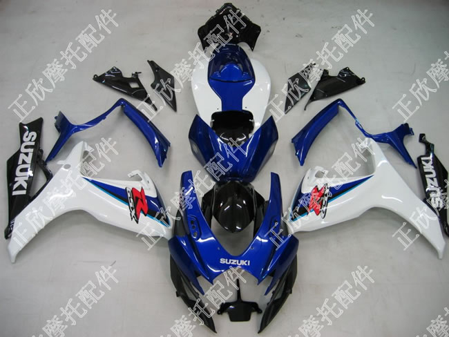ZXMT White/Blue ABS Fairing Set 23pc - Suzuki GSXR600/750 2006-2007