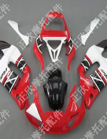 ZXMT Red/White/Black ABS Fairing Set 12pc - Yamaha YZF-R6 1998-2002
