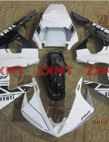 ZXMT White/Black ABS Fairing Set 19pc - Yamaha YZF-R6 2003-2005