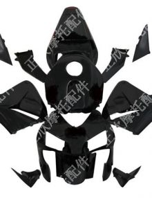 ZXMT Black ABS Fairing Set 17pc - Honda CBR 600RR 2003-2004 ***No Honda Logos***