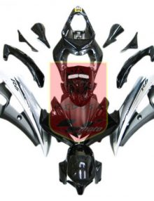Black/Silver ABS Fairing Set 15pc - Yamaha YZF-R6 2006-2007