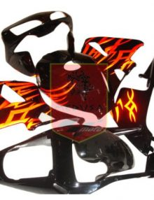 Aftermarket Black/Orange Tribal ABS Fairing Set 14pc - Honda CBR600RR 2003-2004
