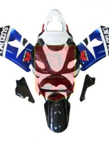 Blue/Black/White ABS Fairing Set 9pc - Suzuki GSXR1000 2003-2004