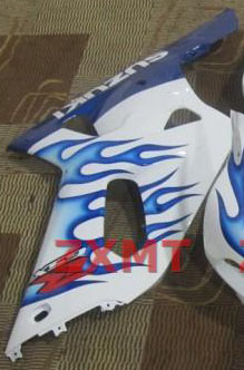 ZXMT White/Blue ABS Fairing Set 9pc - Suzuki GSXR 600/750 2000-2003