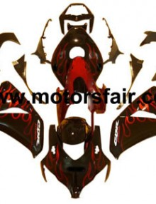 Honda CBR 1000RR 2008-2009 ABS Fairing - Red/Black Flames***No Honda Logos***