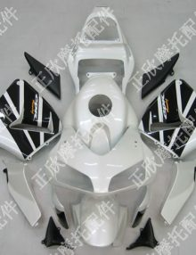 ZXMT White/Black ABS Fairing Set 17pc - Honda CBR 600RR 2003-2004***No Honda Logos***