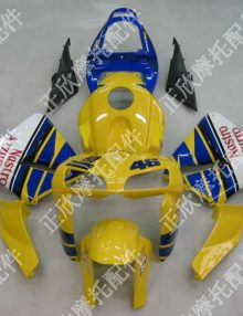 ZXMT Yellow Nastro Azzurro ABS Fairing Set 17pc - Honda CBR 600RR 2005-2006***No Honda Logo***