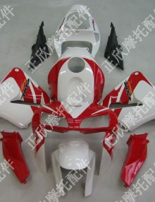 ZXMT White/Red ABS Fairing Set 17pc - Honda CBR 600RR 2005-2006***No Honda Logos***