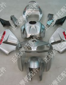ZXMT Silver ABS Fairing Set 17pc - Honda CBR 600RR 2005-2006***No Honda Logos***