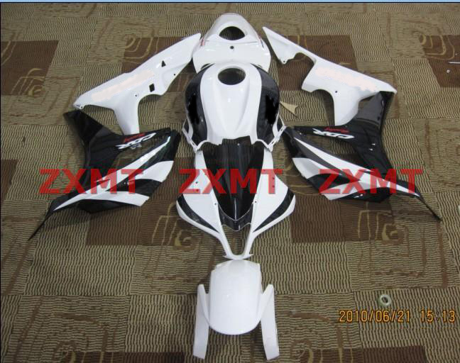 ZXMT White/Black ABS Fairing Set 23pc - Honda CBR 600RR 2007-2008***No Honda Logos***