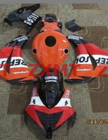 ZXMT Orange/Red Repsol ABS Fairing Set 19pc - Honda CBR 1000RR 2008-2009***No Honda Logos***