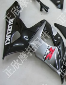ZXMT Silver/Black ABS Fairing Set 20pc - Suzuki GSXR1000 2005-2006