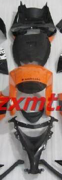 ZXMT Black/Orange ABS Fairing Set 19pc - Kawasaki ZX-10R 2008-2009