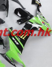 ZXMT Black/Green ABS Fairing Set 19pc - Kawasaki ZX-10R 2008-2009