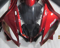 ZXMT Red/Black ABS Fairing Set 15pc - Yamaha YZF-R6 2006-2007