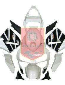 Aftermarket Pearl White/Black ABS Fairing Set 14pc - Honda CBR600RR 2003-2004***No Honda Logos***