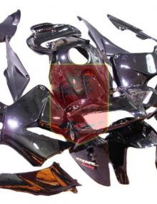 Aftermarket Black ABS Fairing Set 12pc - Honda CBR600RR 2005-2006***No Honda Logos***