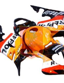 Aftermarket Repsol ABS Fairing Set 23pc - Honda CBR600RR 2007-2008***No Honda Logos***