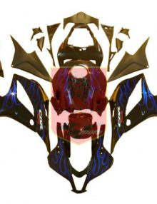 Aftermarket Blue Flame ABS Fairing Set 23pc - Honda CBR600RR 2007-2008***No Honda Logos***