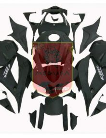 Aftermarket Flat Black ABS Fairing Set 25pc - Honda CBR600RR 2009-2012***No Honda Logos***