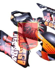 Aftermarket Black Rossi Repsol ABS Fairing Set 19pc - Honda CBR1000RR 2004-2005***No Honda Logos***
