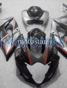 Black/Gray/Red ABS Fairing Set K5 - Suzuki GSXR1000 2005-2006