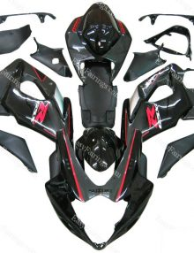 Black/Charcoal/Red Fairing Set 21pc - Suzuki GSXR 1000 2005-2006