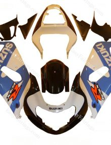 Light Blue/White Fairing Set 9pc - Suzuki GSXR 600/750 2000-2003