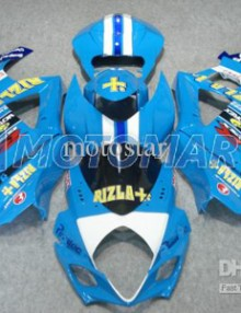 Blue Rizla ABS Fairing Set K7 - Suzuki GSXR1000 2007-2008