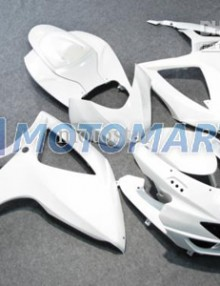 All White ABS Fairing Set K6 - Suzuki GSXR600/750 2006-2007