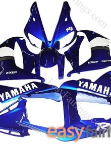 Easy Fairings Blue/White Fairing Set 16pc - Yamaha R1 2002-2003