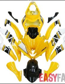 Agip Yellow/Black Fairing Set 19pc - Yamaha R6 2006-2007
