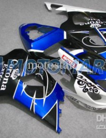 Blue/White/Black Corona ABS Fairing Set K4 - Suzuki GSXR600/750 2004-2005