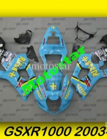 Blue/Black Rizla ABS Fairing Set K3 - Suzuki GSXR1000 2003-2004