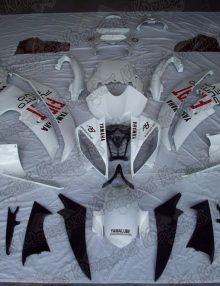 White Fiat Fairing Set 15pc - Yamaha R6 2008-2010