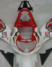 Lucky Strike Fairing Set 9pc - Suzuki GSXR 600 2001-2003