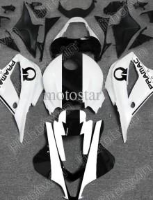 Pramac White/Black ABS Fairing Set - Aftermarket Honda CBR 600RR 2007-2008 **NO AFTERMARKET HONDA LOGOS**