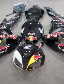 Black Red Bull ABS Fairing Set 19pc - Honda CBR1000RR 2006-2007
