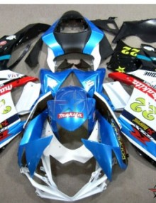 ABS Fairings Rockstar Makita 26pc Fairing Set - Suzuki GSXR 600/750 2011-2014
