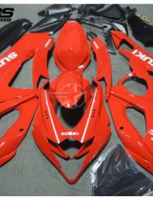 ABS Fairings All Gloss Red 30pc Fairing Set - Suzuki GSXR1000 2005-2006